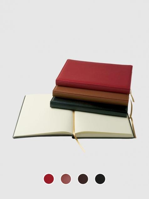 Libro de firmas con cubiertas de piel