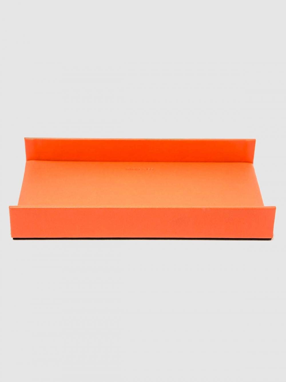 Simile leather desktop tray
