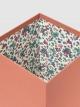 Papelera cuadrada diseño floral